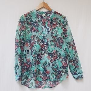 Kut from the Kloth Swiss Dot Floral High Low Tunic